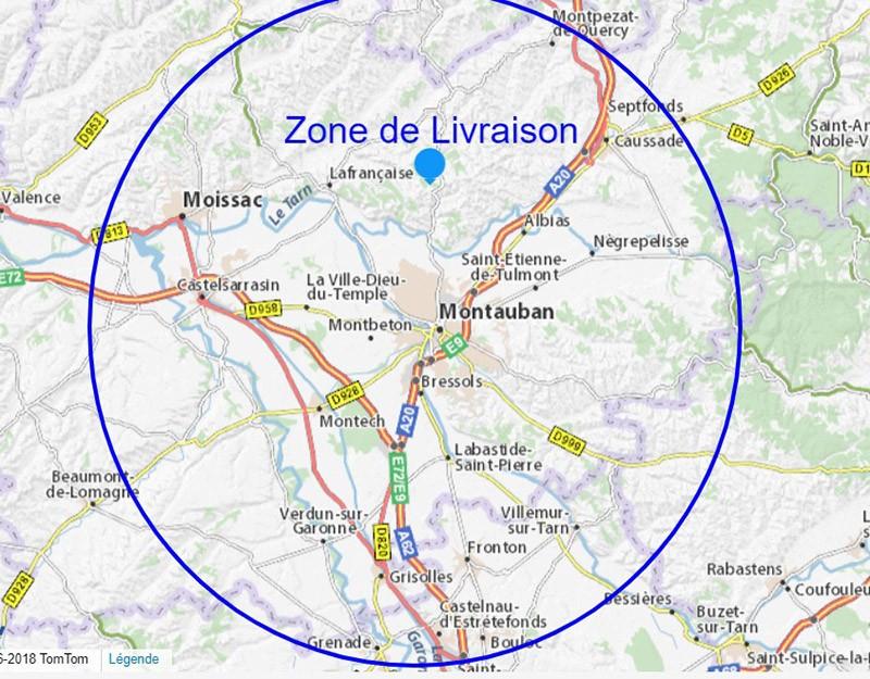 Les conditions et zone de livraison en Tarn et Garonne - Paellas de José