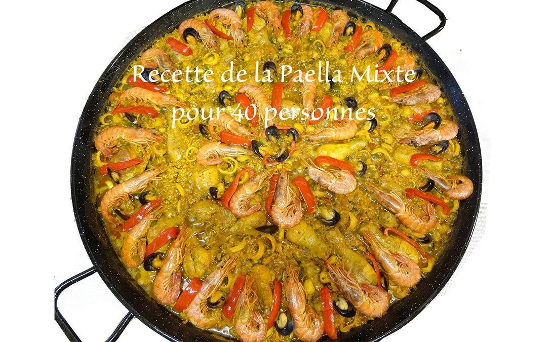 Recette Paella Mixte Géante