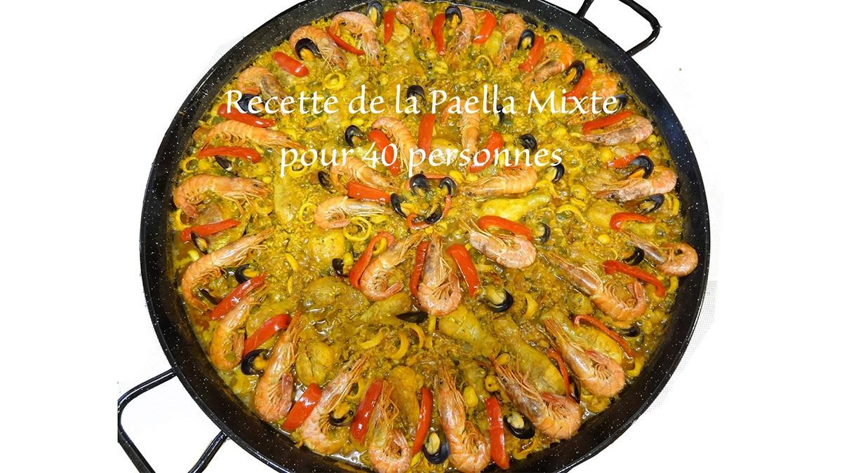 Recette d'une paella geante avec paellas de josé