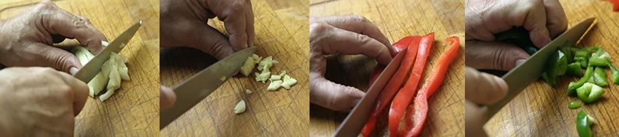 Préparation des ingrédients de la paella mixte - PAELLAS DE JOSE