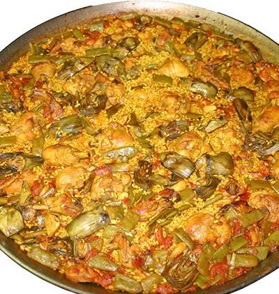 La paella Valenciana - PAELLAS DE JOSE