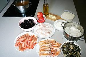 Les ingrédients d'une paella mixte - PAELLAS DE JOSE
