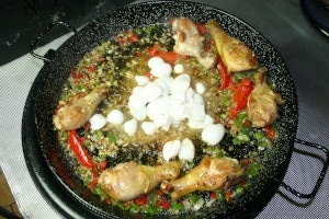 Cuisson paella mixte, étape 5 - Paellas de José