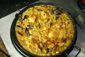 Cuisson paella mixte, étape 9 - Paellas de José