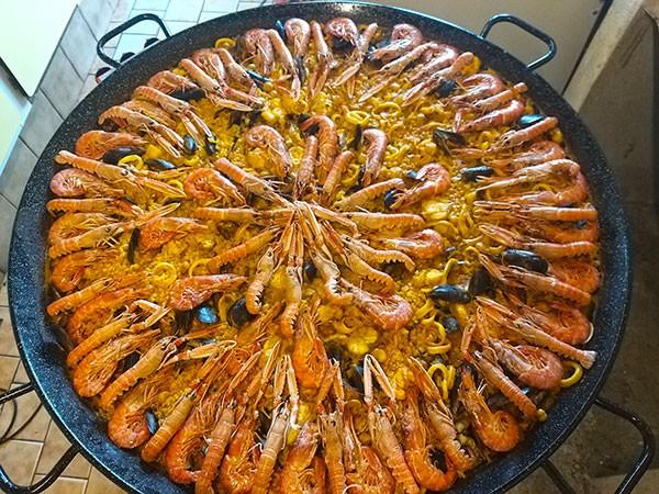 Paella marinière avec Paellas de José