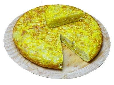 Tortilla traditionnelle Espagnole réalisée par Paellas de José