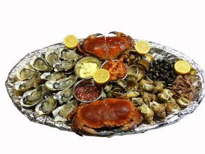 Plateau fruits de mer Le Goéland avec Paellas de José