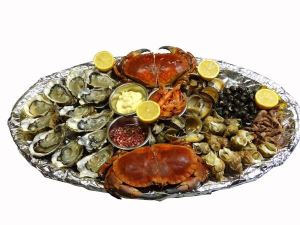 Plateaux Fruits de mer et plateaux d'huitres avec livraison à domicile