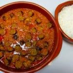 Le rougail saucisse et son riz basmati