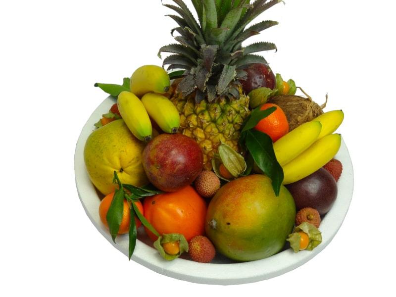 La corbeille de fruits exotiques en livraison à domicile